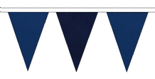 ROYAL BLUE AND NAVY BLUE TRIANGULAR BUNTING - 10m / 20m / 50m LENGTHS